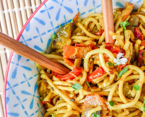nouilles chinoises chinese noodles fideos chinos ecomil