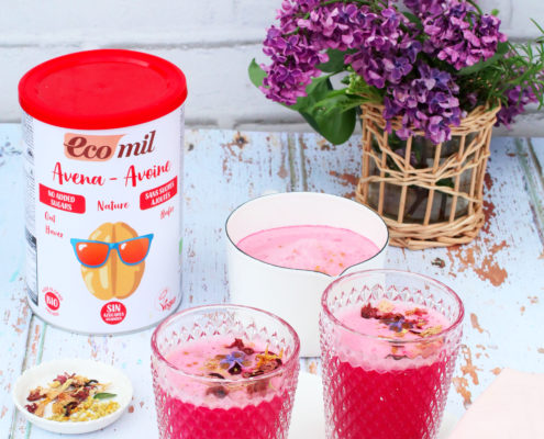 Pink Latte - Ecomil Instant oat drink without added sugars